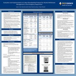 Evaluation and Implementation of a New Phenobarbital Protocol for Alcohol Withdrawal Management in the Emergency Department by Sarah J. Kim, Sara Clark, and Joshua L. Floyd