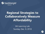 Regional Strategies to Collaboratively Measure Affordability
