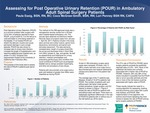Assessing for Post Operative Urinary Retention (POUR) in Ambulatory Adult Spinal Surgery Patients by Paula Essig, Coco McGraw-Smith, and Lori Penney