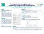 For hospitalized dementia patients, do nonpharmacological interventions reduce agitation?