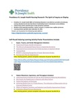 Self-Paced Enduring Learning Activity Poster Presentations